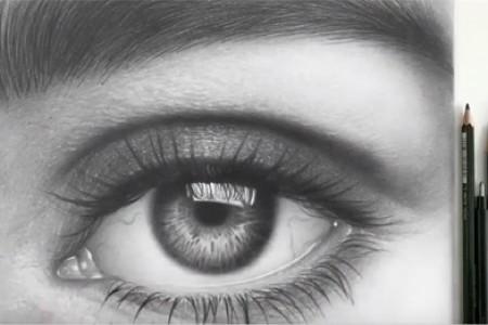 在10个小时内,10万人来回穿梭,画出了眼睛和眉毛的超现实主义草图!