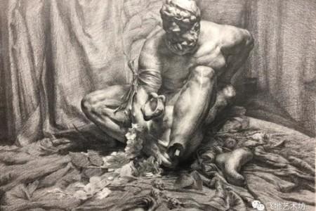 飞地艺术广场——素描石膏雕塑作品评析