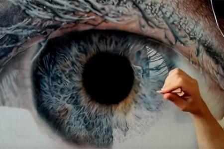 超逼真的眼部绘画,绝对视觉、精神和听觉艺术震撼!