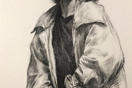 杭州齐贤素描教师培训班李齐贤素描半身像