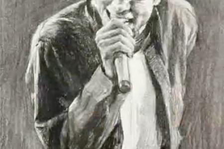 迈克尔·杰克逊素描,手绘视频