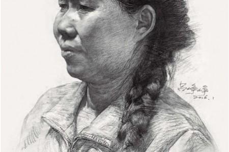 郑路从《临摹珍宝——素描头像》中绘画