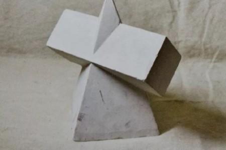 素描静物石膏体互穿体组合绘制步骤教程