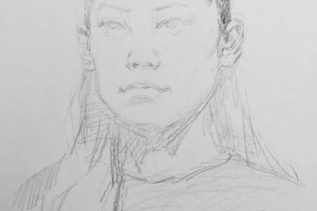 如何准确地形成素描肖像?初学者画头像的步骤