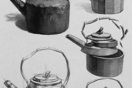 小泽北京工作室蔬菜、可乐和水果静物画结构素描