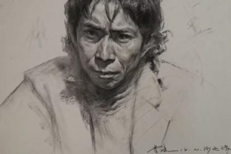画素描头像的三种技巧与曹亮西部素描头像