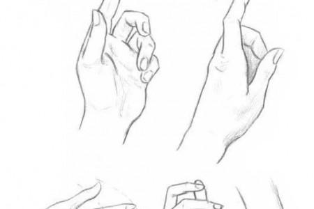 手绘姿势素描手绘图片